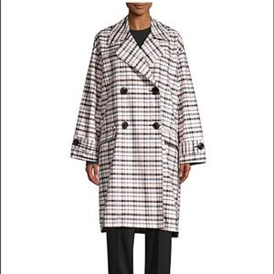 Opening Ceremony Plaid Pink Oversized Trench M